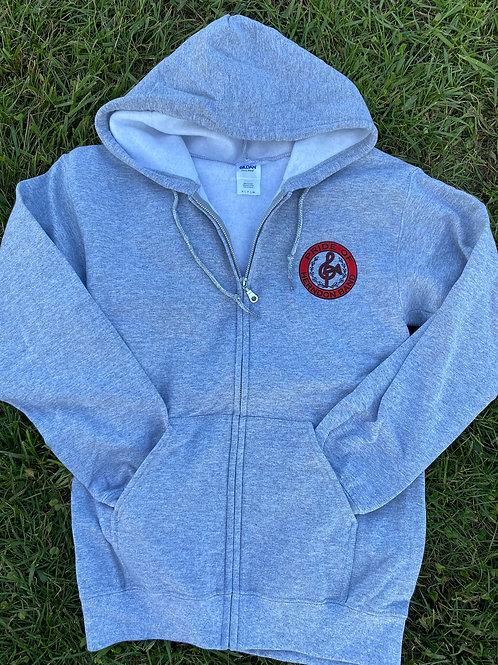 Sweatshirt Gray Small Logo Full-Zip Hoodie