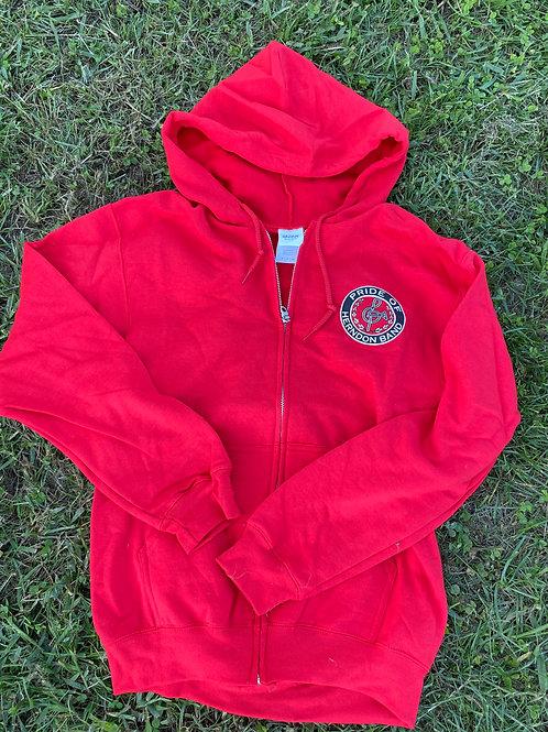 Sweatshirt Red Small Logo Full-Zip Hoodie