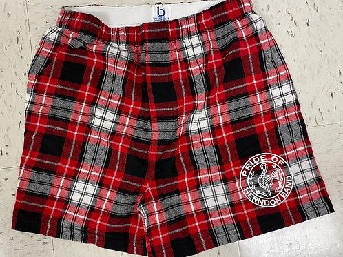 Plaid Flannel Boxer Shorts