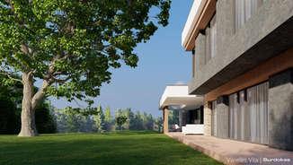 VILNELĖS VILA | Modernus projektas Vilniuje šalia Panerių parko | Architektūros vizualizacija | Surdoko architektūros studija