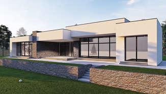 VAKARO VILA   Modernaus namo projektas ant marių kranto   Architektūros vizualizacija   Surdoko architektūros studija