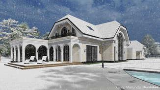 KAUNO MARIŲ VILA   Klasikinio namo projektas Kaune su vaizdu į Kauno marias   Architektūros vizualizacija   Surdoko architektūros studija