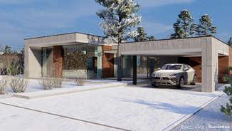 BALČIO VILOS | Modernių namų kvartalo projektas Trakų rajone | Architektūros vizualizacija | Surdoko architektūros studija