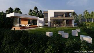 NERIES VILA | Modernaus namo projektas | Architektūros vizualizacija | Surdoko architektūros studija