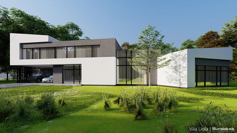 VILA UOLA Modernus gyvenamasis namas Šia