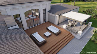 ŽUVĖDRŲ VILA | Klasikinio namo projektas | Architektūros vizualizacija | Surdoko architektūros studija