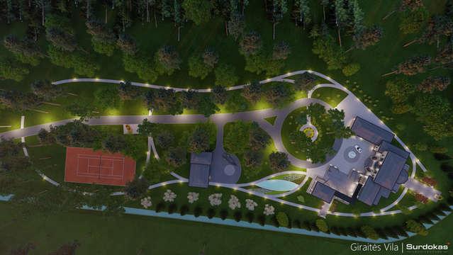 GIRAITĖS VILA | Klasikinio namo projektas | Architektūros vizualizacija | Surdoko architektūros studija
