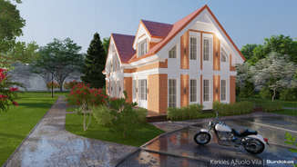 KARKLĖS ĄŽUOLO VILA | Namo projektas Karklėje netoli jūros | Architektūros vizualizacija | Surdoko architektūros studija