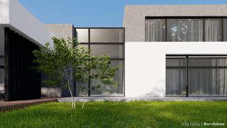 VILA UOLA | Modernaus namo projektas Šiauliuose | Architektūros vizualizacija | Surdoko architektūros studija