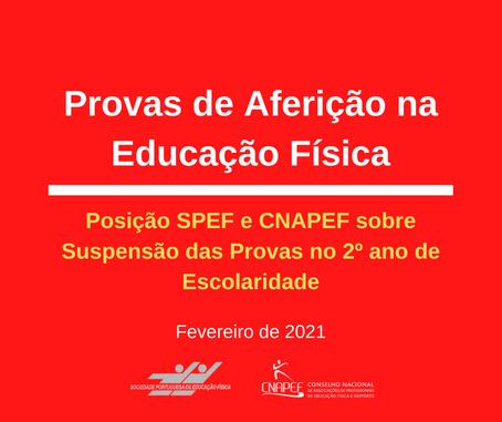 SPEF e CNAPEF tomam posição sobre a suspensão da Provas de Aferição em EF no ano 2020-21