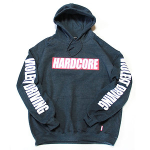 HARDCORE BAR LOGO PULLOVER HOODIE D.GRY