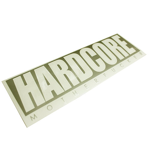 HARDCORE MF DECAL STICKER GOLD