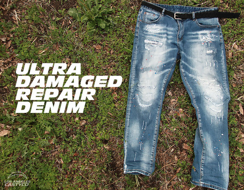 DAMAGED REPAIR DENIM
