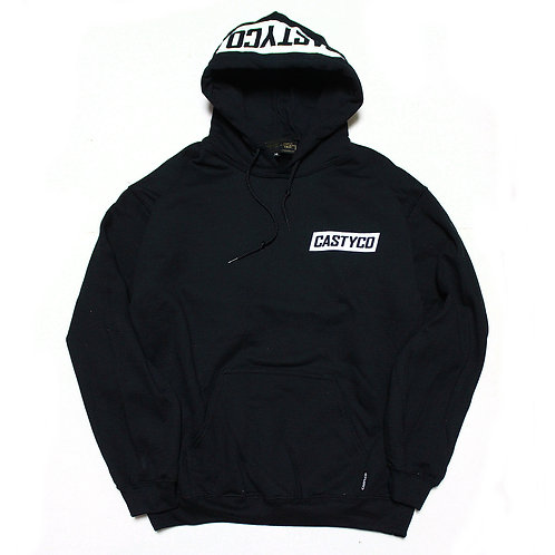 CASTY.CO HOOD PULLOVER HOODIE BLK