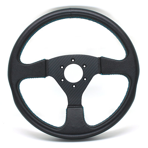 #1 Dry Carbon Steering Twill / Punching Leather