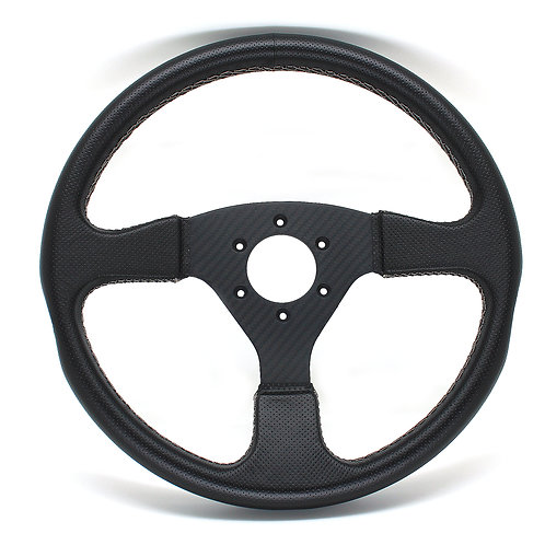 #2 Dry Cabon Steering Twill / Punching Leather