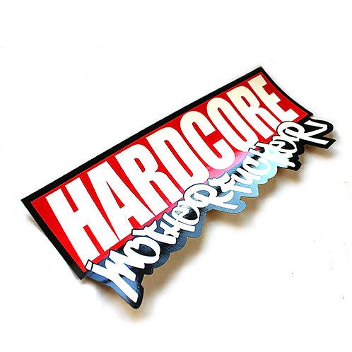 """HARDCORE BUMPER STICKER """"GRAFFITI"""""""