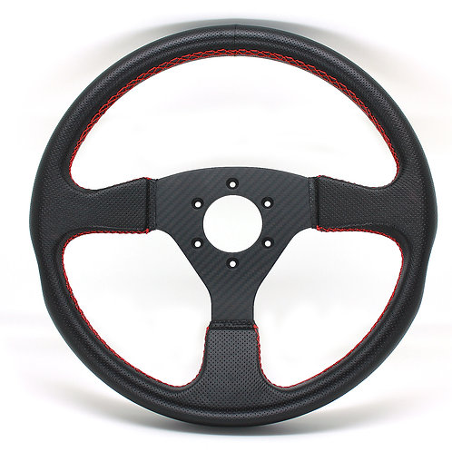 #3 Dry Carbon Steering Twill / Punching Leather