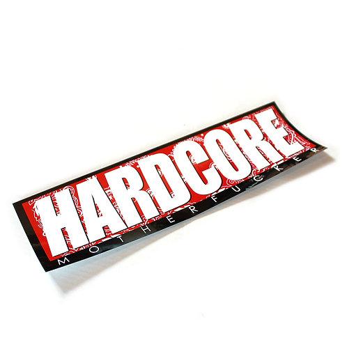 "HARDCORE BUMPER STICKER ""Bandana Red"""