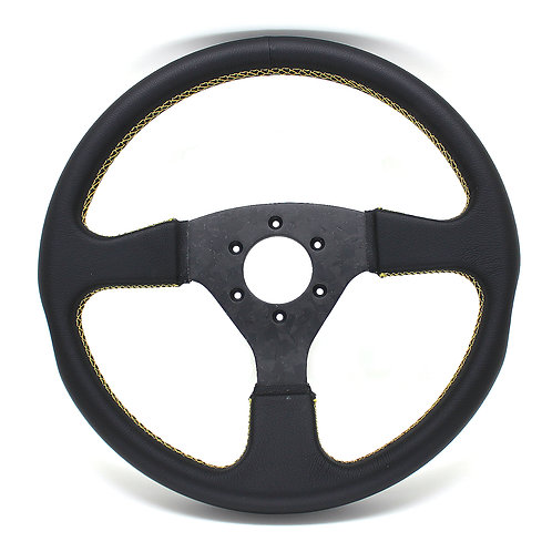 #9 Dry Carbon Steering Marble /  Smooth Leather