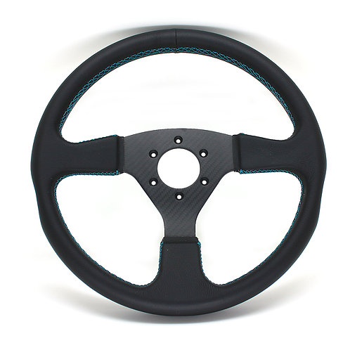 #6 Dry Carbon Steering Twill / Smooth Leather