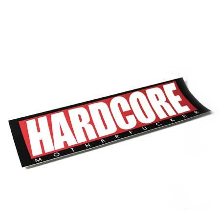 "HARDCORE MF BUMPER STICKER ""RED BASIC"""