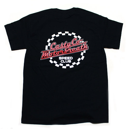 CASTY.co CHECKER TEE SHIRTS BLK