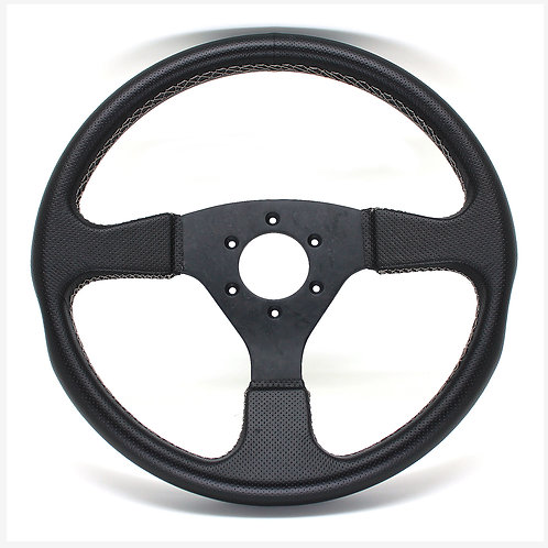 #11 Dry Carbon Steering Marble / Punching Leather