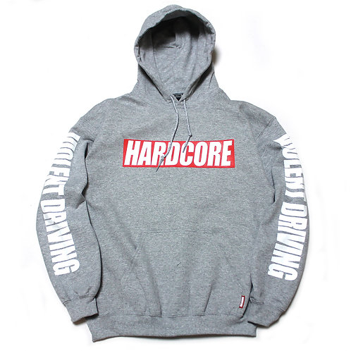 HARDCORE BAR LOGO PULLOVER HOODIE GRY