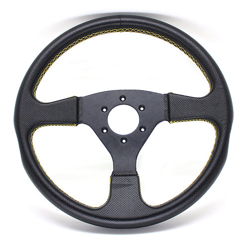 #10 Dry Carbon Steering Marble /  Punching Leather