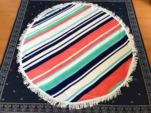 ROUND BEACH TOWEL /STRIPE
