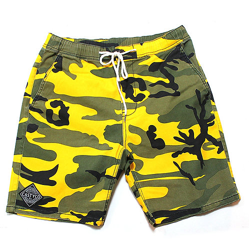 CASTY.co COLOR CAMO SHORTS YEL
