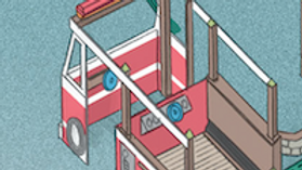 Firetruck with Accessible Moving Deck