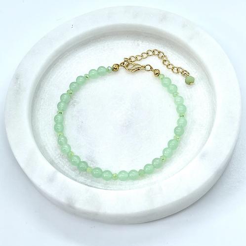 Jade (mint) Gemstone Bracelet