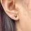 Thumbnail: 14k Solid Gold Black Star Cubic Earrings