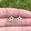 Thumbnail: 14k Solid Gold Star Earrings