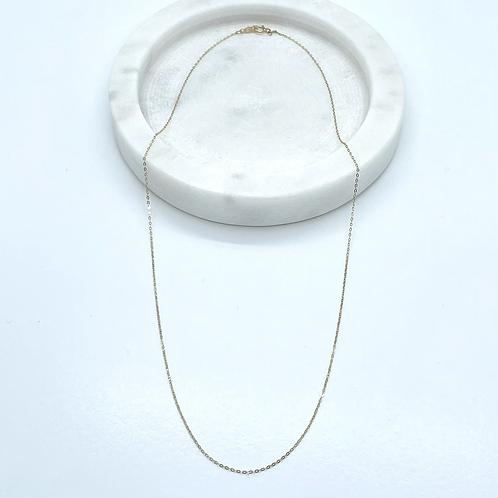 Super Thin 14k Solid Gold Chain (42cm)
