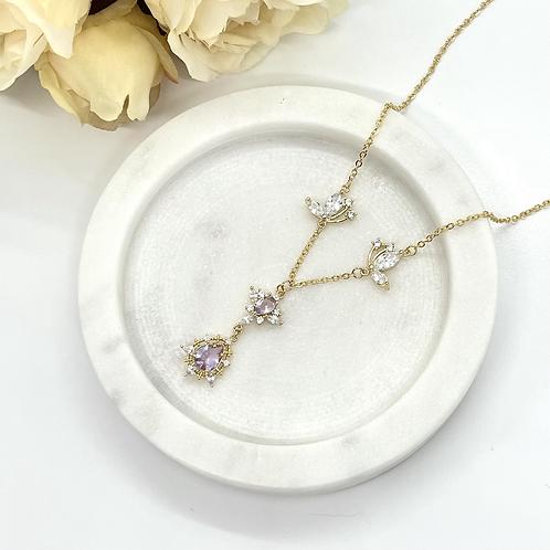 Violet Love Bridal Necklace