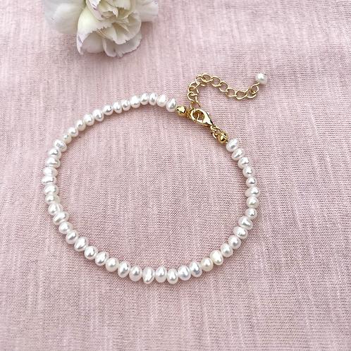 Tiny Fresh Water Pearl Bracelet