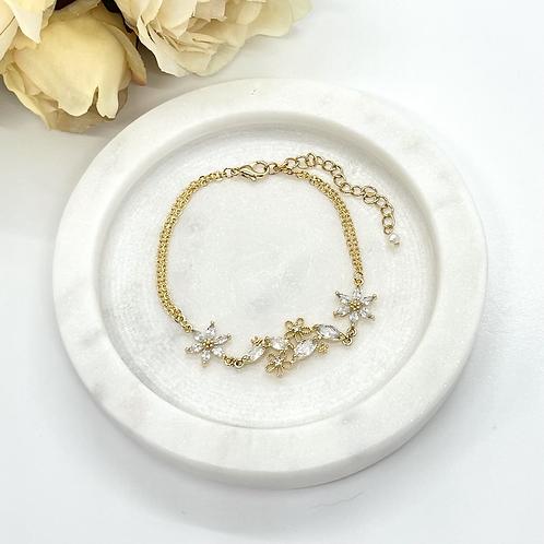 Flower Garden Bridal Bracelet