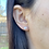 Thumbnail: 14k Solid Gold Pink Swarovski Pearl Earrings