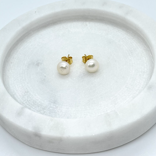 Fresh Water Pearl Stud Earrings, 14k Gold Post (post only)
