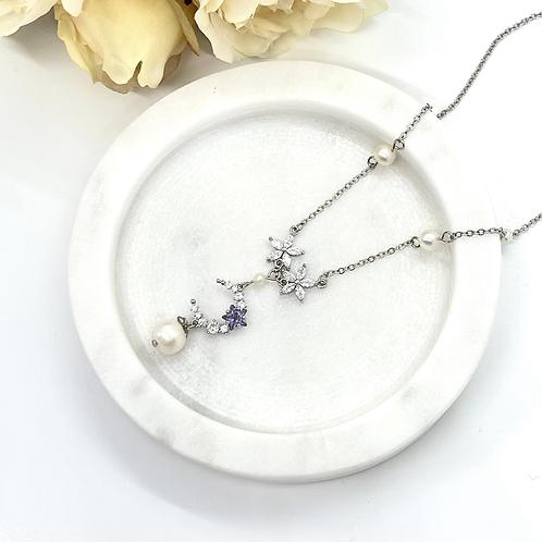 Fantasy Moon Bridal Necklace (fresh water pearl)