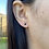 Thumbnail: 14k Solid Gold Round Black Cubic 4mm Earrings