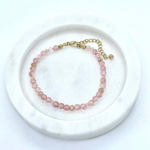 Pink Inca Rose Gemstone Bracelet