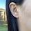 Thumbnail: 14k Solid Gold Rhombus Shape Earrings