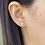 Thumbnail: 14k Solid Gold CZ Ball Earrings