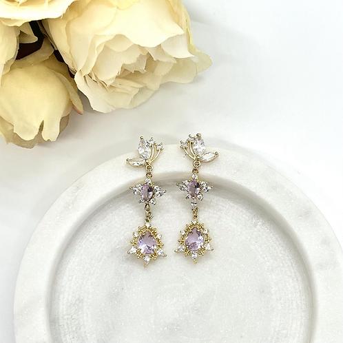 Violet Love Bridal Earrings