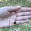 Thumbnail: Thin 14k Solid Gold Jade (dark green) Gemstone Necklace