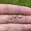 Thumbnail: 14k Solid Gold Tiny Flower Earrings
